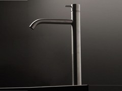 - Single handle stainless steel washbasin mixer DIAMETRO35 INOX | Single handle washbasin mixer - RUBINETTERIE RITMONIO