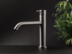 - Countertop stainless steel washbasin mixer DIAMETRO35 INOX | Single handle washbasin mixer - RUBINETTERIE RITMONIO