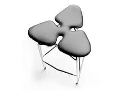- Upholstered leather stool DIAMOND | Leather stool - KUBIKOFF
