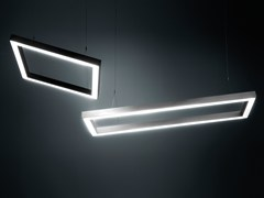 - LED direct light aluminium pendant lamp DINAMICA Q - PLEXIFORM