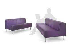 - 3 seater leather sofa Leather sofa - ISD