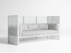 - 3 seater high-back fabric garden sofa DNA | High-back sofa - GANDIA BLASCO