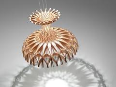 - Wooden pendant lamp DOME 90 - BOVER Il. Luminació & Mobiliario