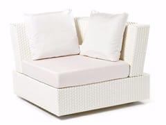 - Hand woven man-made fibre corner armchair DOMINO | Corner armchair - Varaschin