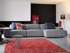 - Sectional fabric sofa with removable cover DOMINO | Fabric sofa - Dall'Agnese