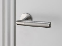 - Door handle on rose Door Lever Handle - Steel - Buster + Punch