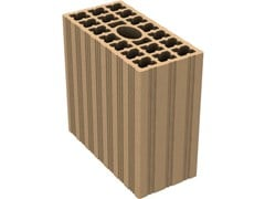 - External masonry clay block DOPPI UNI DOPPI 12X25X25 - 21 FORI - Fornaci DCB
