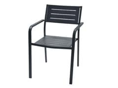 Sedia da giardino impilabile in acciaio zincato con braccioliDORIO2 - RD ITALIA