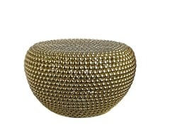 - Pouf in metallo DOT BRASS LOW - Pols Potten