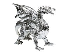 - Resin decorative object DRAGON CHROME - KARE-DESIGN