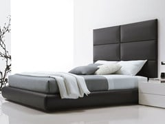 - Upholstered double bed with high headboard DREAM | Bed with high headboard - Poliform