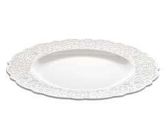 - Porcelain dinner plate DRESSED | Dinner plate - ALESSI