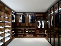 - Corner sectional melamine-faced chipboard walk-in wardrobe DRESSING ROOM - Porro