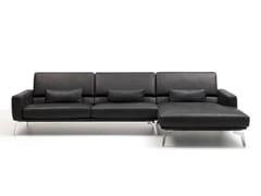 Divano componibile in pelle con chaise longueDS-87 | Divano - DE SEDE