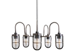 - Direct light handmade chandelier DUNE BAR WELL GLASS LIGHT FITTING - Mullan Lighting