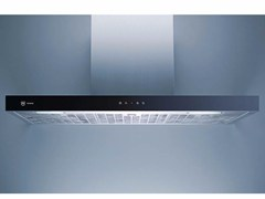 - Wall-mounted glass and steel cooker hood with integrated lighting DW PREMIRA 12 - L 120 CM - V-ZUG