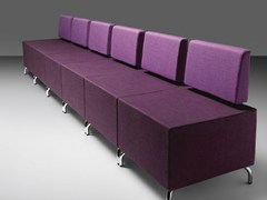 - Sectional fabric leisure sofa DADO | Fabric waiting room sofa - Metalmobil