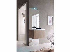 - Single wooden vanity unit E.GÒ - COMPOSITION 17 - Arcom