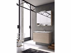 - Single wooden vanity unit E.GÒ - COMPOSITION 31 - Arcom
