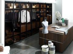 Cabina armadio componibile in legno e vetroE6 | Cabina armadio in legno e vetro - GAMADECOR