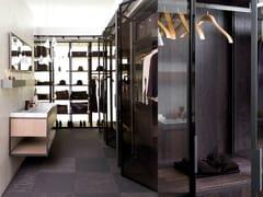 Cabina armadio componibile in legno e vetroE7 | Cabina armadio in legno e vetro - GAMADECOR