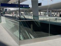 Parapetto in acciaio e vetroEASY GLASS® PROTECT - Q-RAILING ITALIA