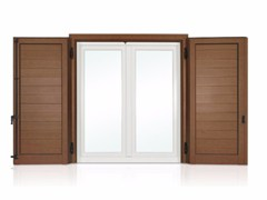 - Wooden panel shutter ECLISSE with horizontal slats - Cos.Met. F.lli Rubolino
