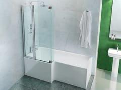 Vasca da bagno asimmetrica con doccia ECOSQUARE - Polo