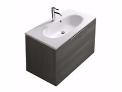 - Wall-mounted vanity unit with drawers ERGO - 7161 - GALASSIA