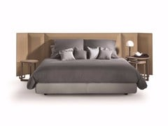 - Double bed with upholstered leather headboard EDEN PLUS - FLEXFORM