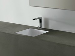 - Undermount square ceramic washbasin EDGE 44X44 | Undermount washbasin - Alice Ceramica