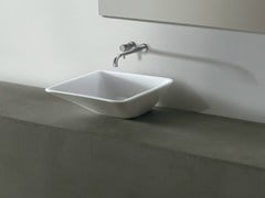- Square ceramic washbasin EDGE 44X44 | Washbasin - Alice Ceramica