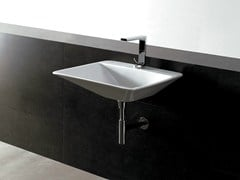 - Rectangular ceramic washbasin EDGE 59X54 THIN | Washbasin - Alice Ceramica