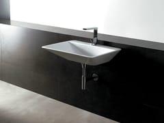 - Rectangular ceramic washbasin EDGE 69X54 THIN   Washbasin - Alice Ceramica