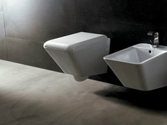 - Wall-hung ceramic toilet EDGE QUADRA | Wall-hung toilet - Alice Ceramica