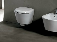 - Wall-hung ceramic toilet EDGE TONDA | Wall-hung toilet - Alice Ceramica