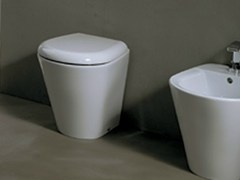 - Contemporary style ceramic toilet EDGE TONDA | Toilet - Alice Ceramica