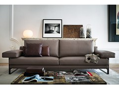 - 2 seater leather sofa EGO | Leather sofa - Arketipo