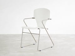 - Sled base stackable lacquered chair EGOA | Lacquered chair - STUA