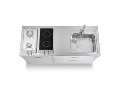 Modulo cucina freestanding lineare su misura in acciaio in stile modernoELEMENTI CUCINA 160 | Cucina in stile moderno - ALPES-INOX