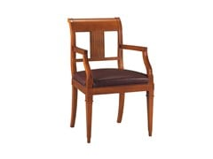 - Cherry wood chair with armrests ELENA | Chair with armrests - Morelato