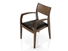 - Leather chair with armrests ELIE | Chair with armrests - J. MOREIRA DA SILVA & FILHOS, SA