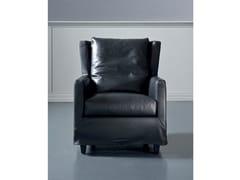 - Leather armchair with armrests ELISA | Leather armchair - Marac