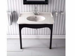 - Console ceramic washbasin ELLADE | Rectangular washbasin - Hidra Ceramica