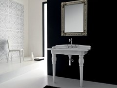 - Console ceramic washbasin ELLADE | Single washbasin - Hidra Ceramica