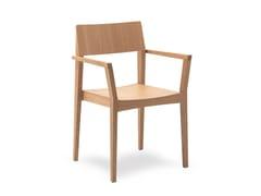 Sedia in legno con braccioliELSA   HEALTH & CARE   Sedia con braccioli - PIAVAL