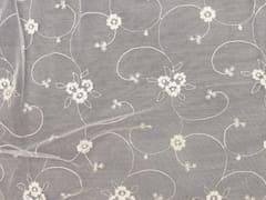 - Tessuto ricamato in poliestere con motivi floreali per tende EMBROIDERY FLOWERS - Gancedo
