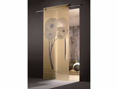 - Glass sliding door ENALIOS CHAMPAGNE - Casali