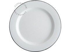 - Enamelled metal dinner plate ENAMEL PLATE | Dinner plate - ZANGRA