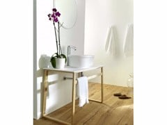 - Single washbasin with towel rail EPOQUE | Krion® washbasin - Systempool